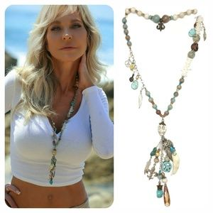 Kinley SS Wrap Earthy Necklace